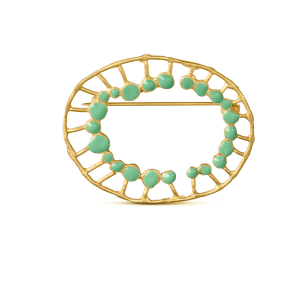 BROCHE dorado SECRET MINT