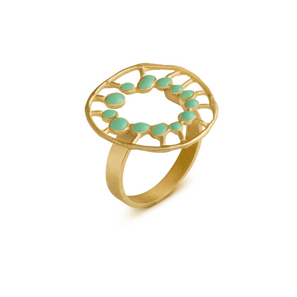 ANILLO dorado SECRET MINT