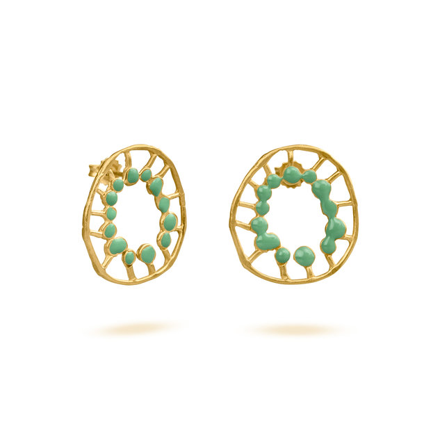 PENDIENTES dorados SECRET MINT