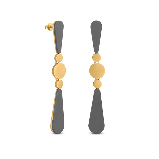 LACRIMA golden EARRINGS
